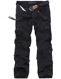 8e6a890b3f0d Herren Casual Hose Vintage Baumwolle Cargo Hose mit Mehrere Taschen  Anti-Verschleiß Kampfhose…