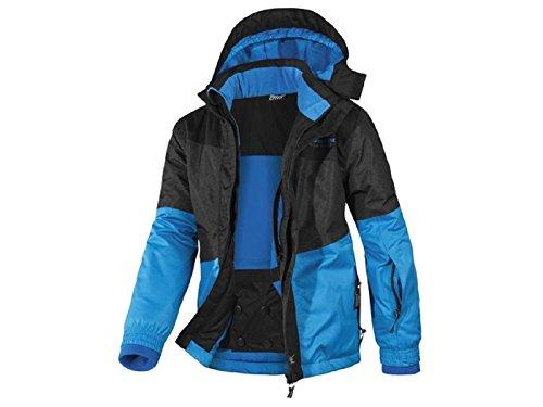 Kinder Jungen Skijacke Größe 122-128 Ski Jacke Jungs Winterjacke Winter Snowboardjacke Schnee (blauschwarz)