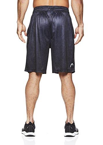 HEAD-Mens-Top-Heather-Workout-Gym-Running-Shorts-wElastic-Waistband-Drawstring