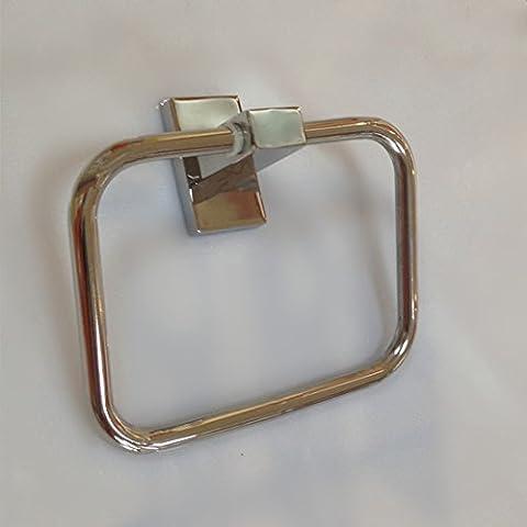SDKIR-Bad Handtuch ring Badezimmer Zubehör rechteckig Edelstahl square Aufhängering Handtuchring