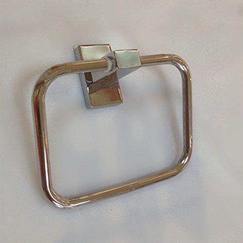 XXN-Bagno Anello portaasciugamano accessori per bagno in acciaio inossidabile di forma rettangolare quadrata anello pendenti Anello portaasciugamano - Rettangolare Pendente A Forma