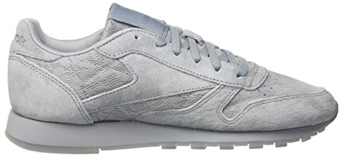 Reebok Damen Classic Sneakers In Pelle Con Stringhe Grau (meteor Grigio / Bianco)