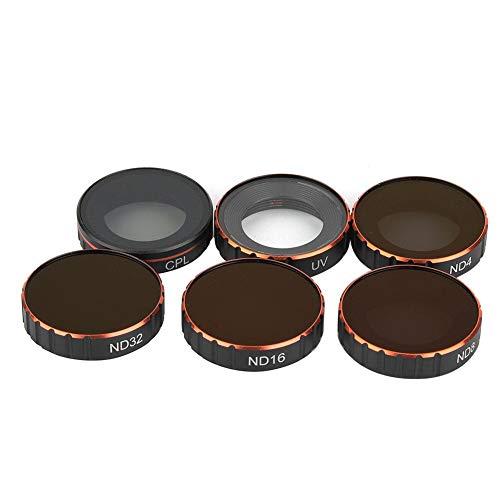 Mugast 6er Kamera Objektiv Filter, 6er Set Filter für DJI Osmo Action Kamera UV/CPL / ND4 / ND8 / ND16 / ND32 mit tragbarem Transportkoffer Electronic-light-action-kit