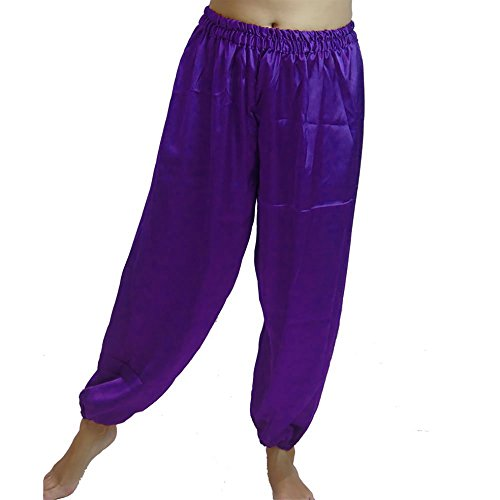 Dancers World Ltd (UK Seller) Bauchtanz Harem Hosen für Dancing Tribal Dancer Kostüm Yoga M L XL XXL, violett