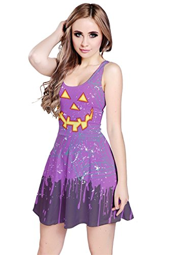 CowCow - Robe - Femme Orange Bats Purple Pumpkin
