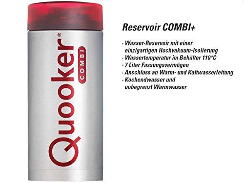 Quooker COMBI+ 2.2 Fusion Square Kochendwasserhahn / Kochendwasser-Armatur & Mischbatterie / verchromt glänzend CHR - 5