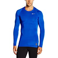 Nike Cool Comp Ls,  Maglietta di compressione a maniche lunghe Uomo, Blu (Game Royal/deep Royal Blue/white), L
