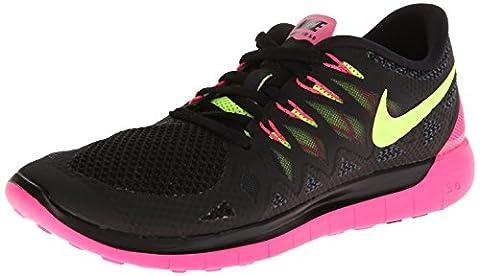 Nike Wmns Nike Free 5.0, Damen Laufschuhe , - schwarz - rosa - gelb - Größe: 38