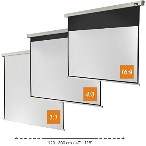 celexon Rollo-Leinwand Professional, Format 16:9, Nutzfläche 220 x 124 cm - 6