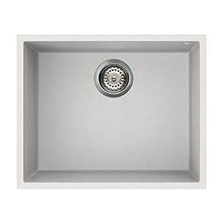 Reginox QUADRA105-W Large 1.0 Bowl Undermount Regi-Granite Sink White