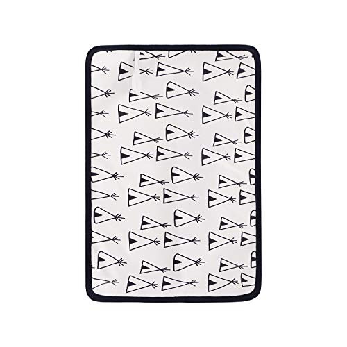 Bébé étanche et Skidproof Diaper Matelas à langer 38 x 53.5 Cm-reusable Coton tricoté Housse Matelas à Langer Pad Portable Tapis à langer à langer pour nouveau-né