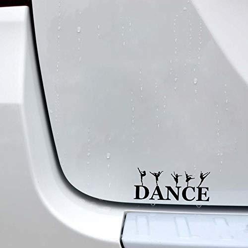 Wangcai 16,1 * 6,8 Interessante Ballett Mädchen Dekor Auto Aufkleber Vinyl Silhouette Zubehör 2Stücke (Ballett Wohnungen Weichen)