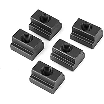 M10 5pcs// pack 45 Carbon Steel T-slot Nut M8//M10 Threads Black Oxide Finish for Machines Tool Tables