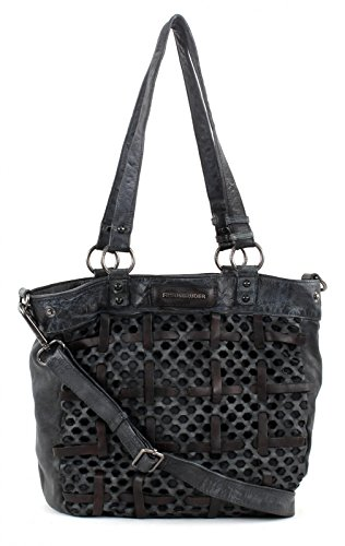 FREDSBRUDER Damen Ledertasche FUN Dark Grey