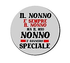 Idea Regalo - Mouse Pad Tappetino pc Scritta Il Mio Nonno e Speciale Idea Regalo Festa Nonni