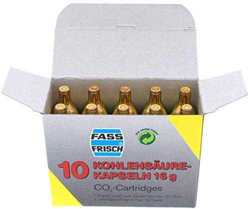 Co2-Kapseln, 10 Stück à 16 g