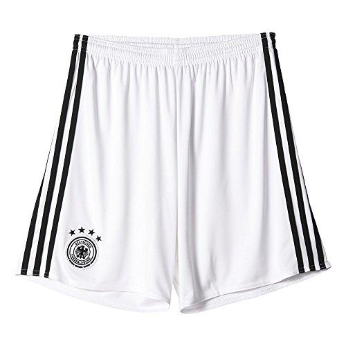 Adidas DFB H Gk SHO Pantalón Corto-Línea Selección Alemana de Fútbol, Hombre, Blanco/Negro, 2XL