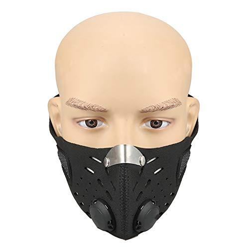 Weiyi0765 Gesichtsmaske für Motorrad, Ski, staubdicht, mit Filter, Anti-Pollen-Allergie, Aktivkohlefiltration, Aktivkohlefiltration