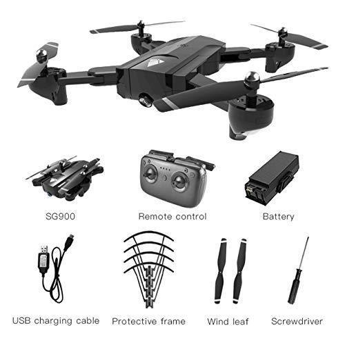 Ballylelly Drone con cámara SG900 Quadcopter Plegable 720P Drone WiFi Drones GPS Posicionamiento de Flujo óptico (3.7V 1100mAh batería)
