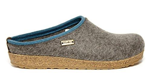 Pantofole HAFLINGER KRIS art. 7110564 in lana cotta Grigio
