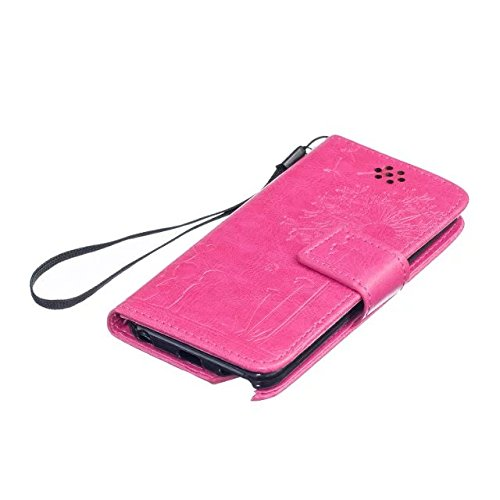 iPhone Case Cover Haute Housse en cuir Premium Quality PU Cover Solid Color Dandelion gaufrage Wallet Support Housse pour iPod Touch5 6 ( Color : Black , Size : IPod Touch5 6 ) Rose