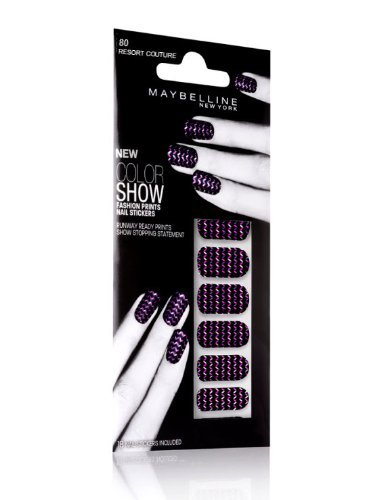 Maybelline Color Show Fashion Prints Nail Stickers #80 Resort Couture - Resort-fashion