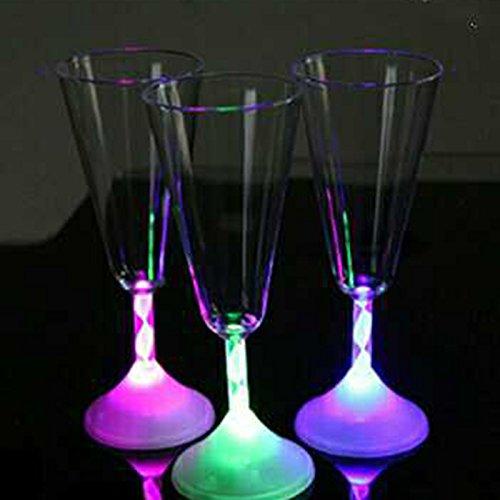 Farbwechsel Licht Led Flashing Red Wine Cup, Wasser Cocktail Tassen Glas Für Bar KTV
