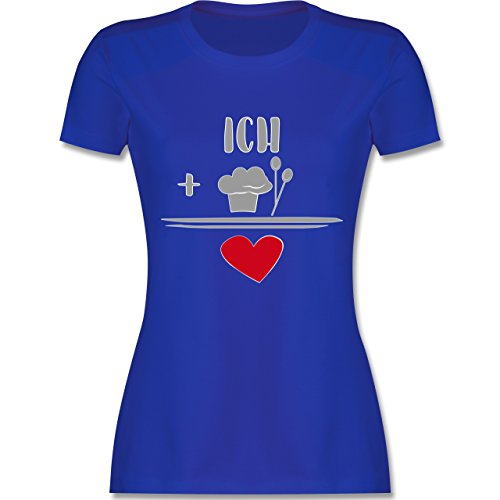 Küche - Ich liebe Kochen - tailliertes Premium T-Shirt mit Rundhalsausschnitt für Damen Royalblau