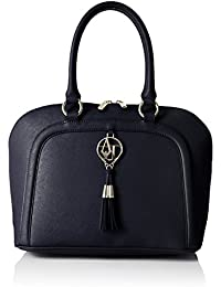 ea374a1678e5 Armani Jeans Women s Eco Saffiano Bowler with Tassle Shoulder Handbag