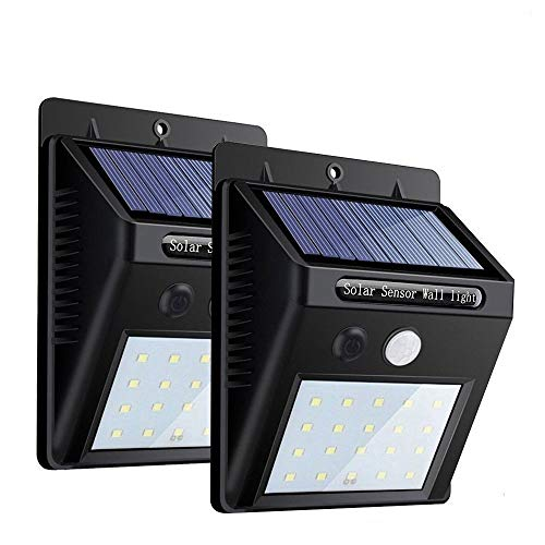 Luz de solar 20 LED, Lámparas Solares, Luces de Exterior con Sensor...