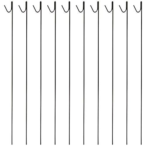 Woodside - Metallspieße für Netzzäune - 10 mm x 135 cm - 10 Stück