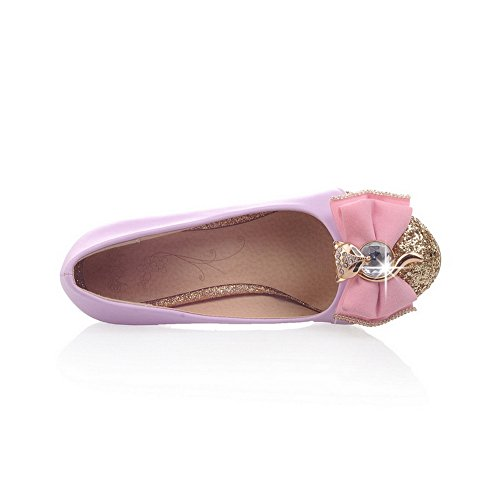 BalaMasa Girls , materiale morbido pompe-Shoes Purple