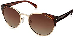 Polaroid Sunglasses Womens Pld 6038/s/x Polarized Round Sunglasses, Dark Havana, 56 mm