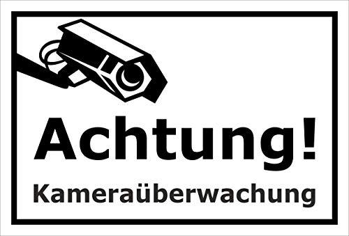Melis Folienwerkstatt Schild - Kamera-überwachung - 15x10cm | Bohrlöcher | 3mm Hartschaum - S00348-124-A 20 VAR Gefälschte Video-Überwachung