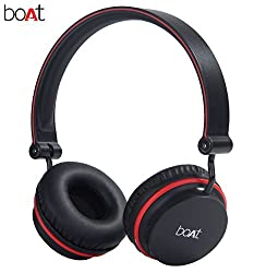 boAt Super Bass Rockerz 400 Bluetooth On-Ear Headphones with Mic (Black/Red)