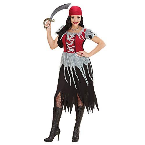 Widmann 00064 - Erwachsenenkostüm Piratin Kleid, Bandana, Größe XL, Mehrfarbig
