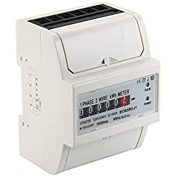 XCSOURCE Kilovatio-hora Metros Monofásico Metros Energía 100A DE DIN-Rail Power Meter BI104