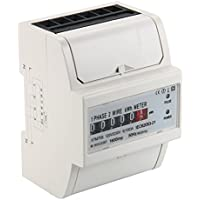 XCSOURCE 230V 5 (100) A AC Power Meter Contatore Energia Elettrica KWH Guida DIN BI104