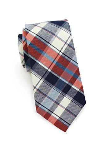 Blackbird Schmale Business-Krawatte, Baumwolle, 7 cm (Skinny/Slim Tie), Glencheck-Muster, Handarbeit, Herrenkrawatte, Büro & Alltag