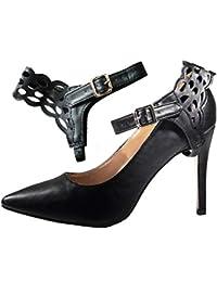 pretty nice d720e 41618 Amazon.it: scarpe nere con tacco basso - Scarpe da donna ...