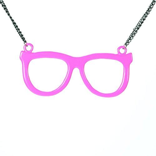 Cupcake Cult Nerd Shades P1Halskette Damen schwarz pink one size zurückhaltenden Party tragen, Pink, One size (Emo-nerd)