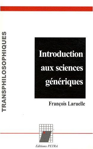 Introduction aux sciences génériques