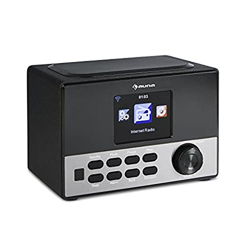 Auna Connect 90 BK Internet Radio Network Player WLAN AUX Line-Out (3.2