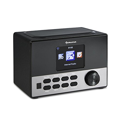 auna Connect 90 BK • Internetradio • Digitalradio • WLAN-Radio • AUX • USB-Slot • Wecker • Farbdisplay • App Control • schwarz