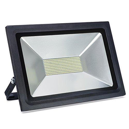 LED Flutlichter & Outdoor Sicherheitsbeleuchtung, 100W, 8600LM, Tageslichtweiß (6000K), leuchtstark, energieeinsparend, für Spielplatz, Gebäude, Stadion, Wege, Straßen, Plätze, Fabriken, Parkplätze
