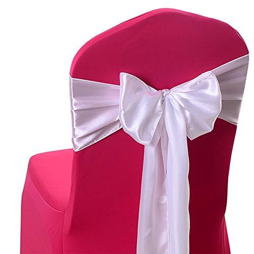 Hosaire 1x Mode Bogen Stuhl Zurück Stuhl Dekoration Stuhlband Hochzeit Stuhl-Bänder Party Dekoration 17 * 275cm (20) -