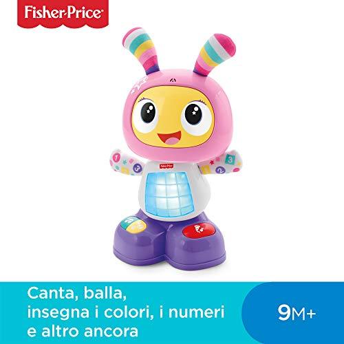 Fisher-Price- Robottina Ballerina, Giocattolo Interattivo per Lo Sviluppo dei Bambini 9-36 Mesi, FRV54