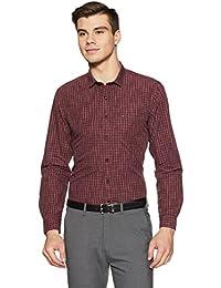 Indigo Nation Men's Checkered Slim Fit Cotton Formal Shirt