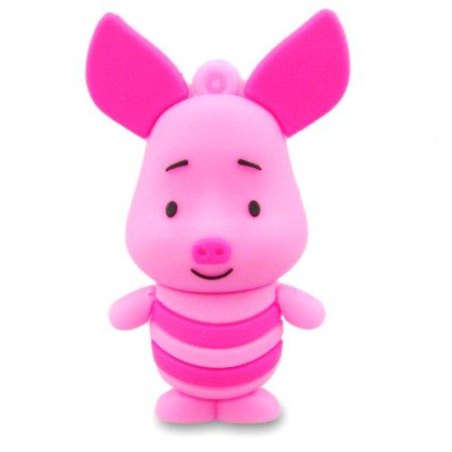 08 Hi-Speed 2.0 USB-Sticks 8GB Schwein Langohr 3D rosa (Schwein 2)