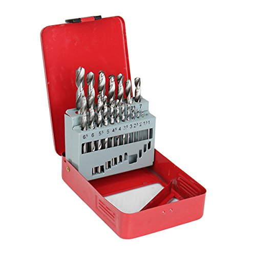 DyNamic 19Pcs Hss 1-10Mm Twist Drill Bits Set High Speed Steel Straight Shank Twist Drill Bit (Drill Bit 1 3 8)